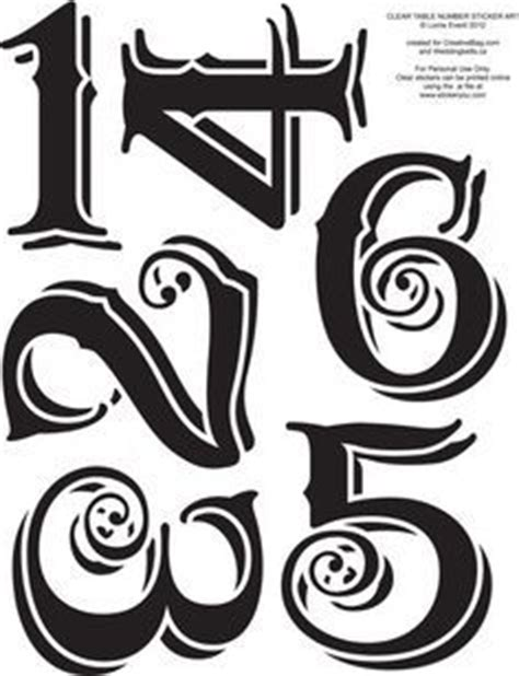 25 Best Ideas About Number Fonts On Pinterest Number Tattoo Fonts Number Typography And Vintage Table Numbers Template