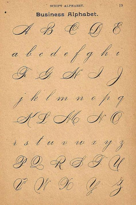 tattoo lettering capitals 1890s calligraphy print page capital letters by