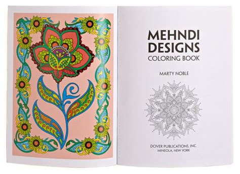 henna design book review mehndi designs coloring book by marty noble paperback