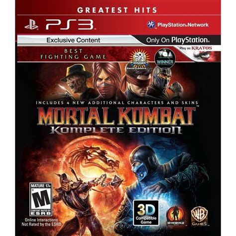 Ps3 Fighting Edition R2 mortal kombat komplete edition playstation 3 ps3 fighting new ebay