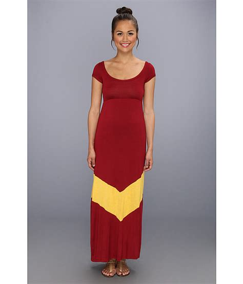 Maxi Maron Gold by Gabriella Rocha Day Maxi Maroon Gold 6pm