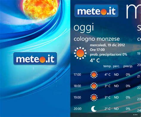 mobile meteo it meteo it disponibile sullo store di windows phone l app