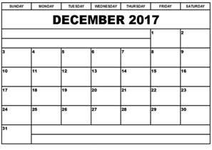Calendar 2017 December Print December 2017 Printable Calendar Printable Calendar
