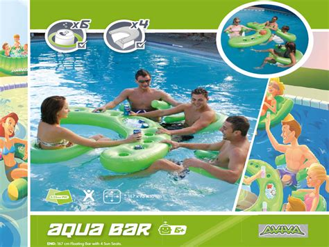 aviva sports pool aqua floating bar funfantastic com