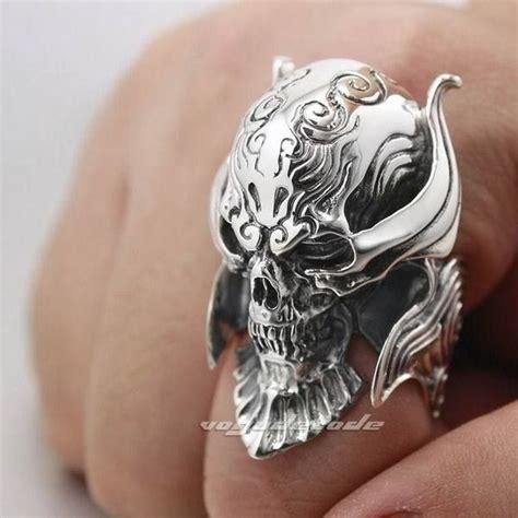 Cincin Tengkorak Skull Ring Bikers Helmet By Dogdag Metalworks sterling silver king skull ring by shunwang 100 skull rings