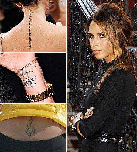 victoria beckham wrist tattoo 1000 images about tattoos on tattoos