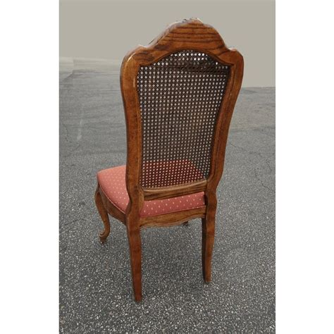 set   french country oak cane dining room chairs