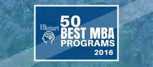 Mba Programs For Recent College Graduates by Edsmart Releases 2016 2017 Best Mba Programs Rankings