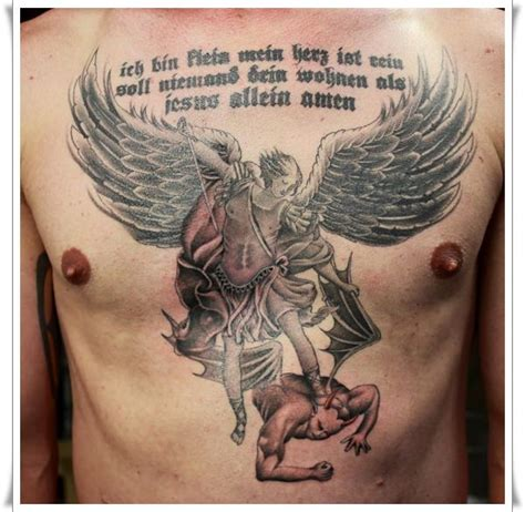 30 perfect st michael tattoo design ideas