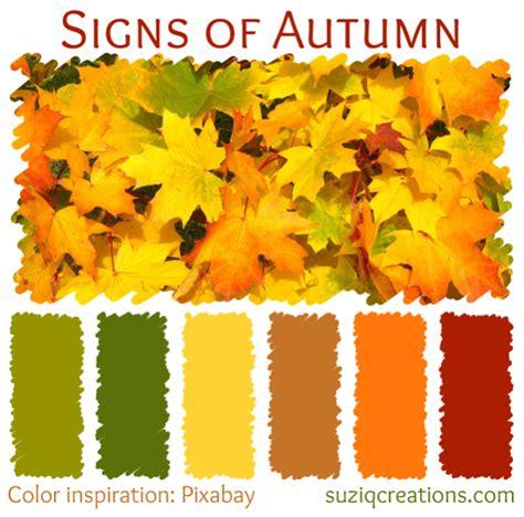 colors of autumn 6 color schemes for autumn inspiration suziq creations