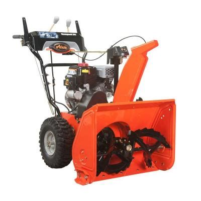 ariens compact 24 in two stage electric start gas snow