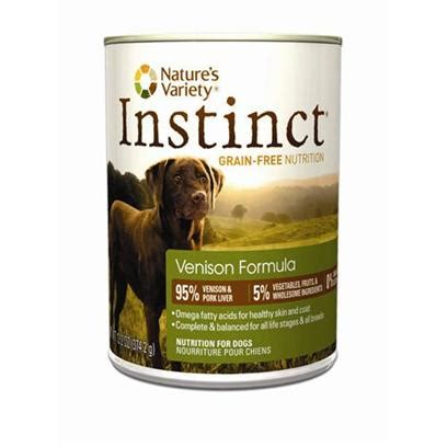 nature s variety instinct food nature s variety instinct grain free venison canned food food petcarerx