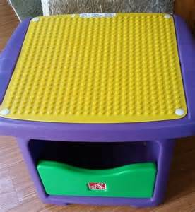 lego duplo step 2 table storage bin table 4 tikes