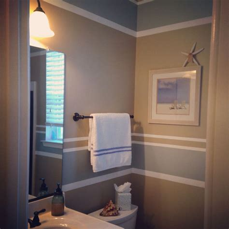 painting stripes in bathroom beachy bathroom painting stripes home pinterest