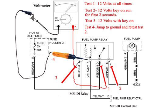 Fuel System Relay Switch 4 Wire Ignition Switch Wiring Diagram Get Free Image