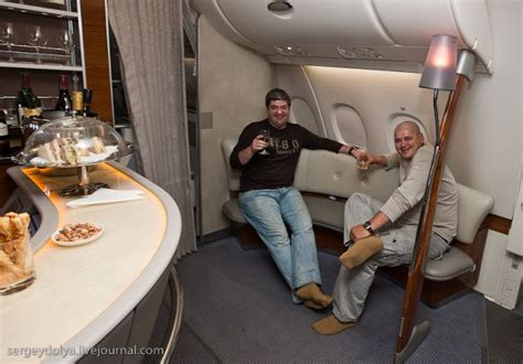 Emirates Airlines Inside Cabin View by Inside A Luxurious Airbus A380 Of The Emirates Airline 47