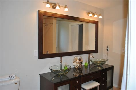 Frame Bathroom Mirror Diy Diy Mirror Frame Diy My Home