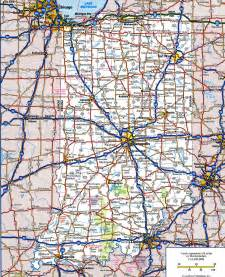 road map of indianafree maps of us