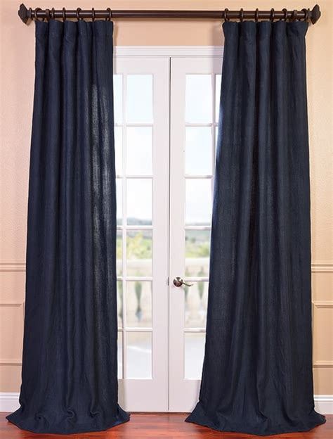 denim drapes denim blue french linen curtain contemporary curtains