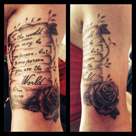 scroll and rose tattoo scroll with roses scroll and