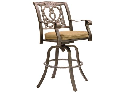 cast aluminum bar stools castelle madrid cast aluminum swivel bar stool with loose