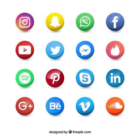 banco de imagenes y vectores gekleurde sociale media cirkel pictogrammen vector