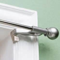 newell curtain rods twist and fit decorative curtain rod satin nickel 7 16