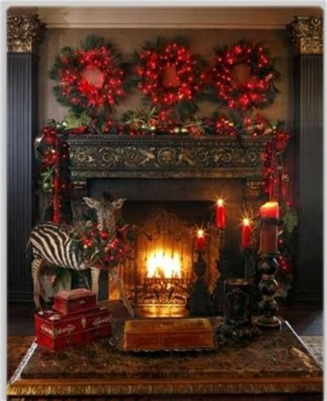 wreaths above fireplace