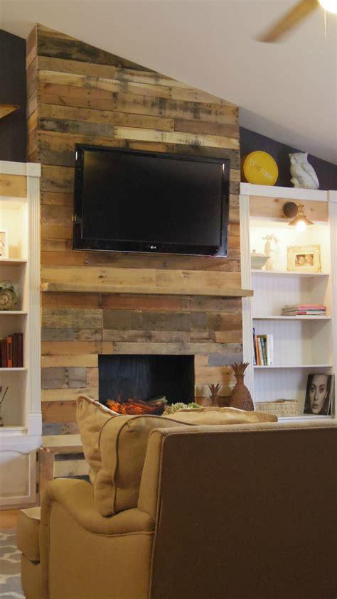 diy pallet wood fireplace 183