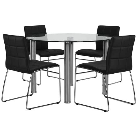 table with upholstered chairs napoli black glass table 4 upholstered chairs
