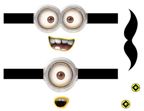 minion cutout template make your own minions store free ideas for your