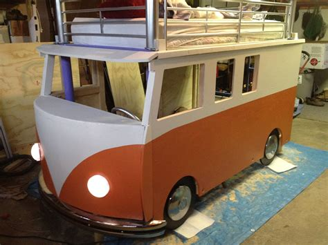 vw bus bed best dad ever builds vw bus bed for 3 year old daughter