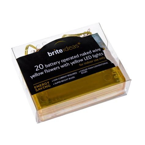 naked wire 20 yellow flowers indoor static battery