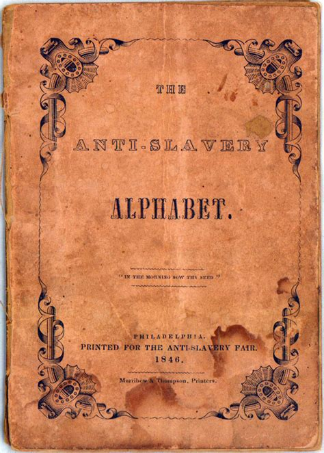 the abcs of guns books the anti slavery alphabet 1846 book teaches the abcs