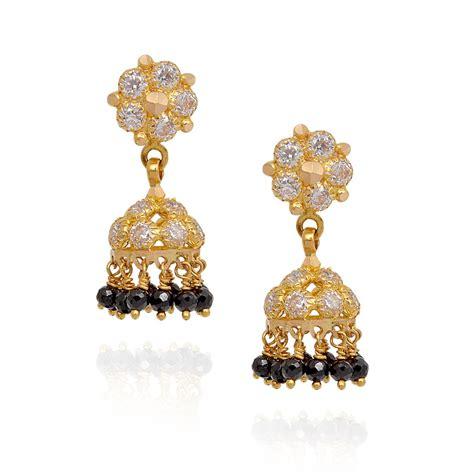black bead earrings gold earrings black with studded gold