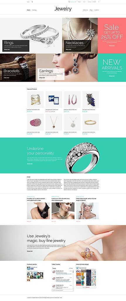 Best Website Templates May 2015 Entheos Jewelry Store Website Template