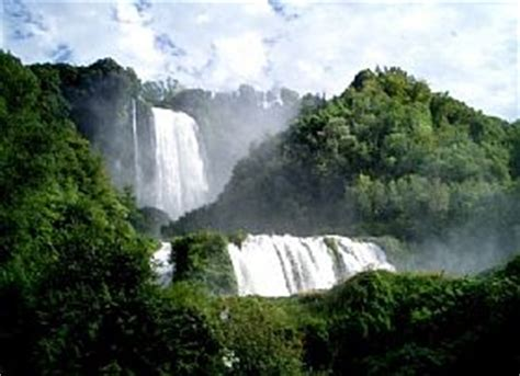 marmore waterfalls tourist attraction  umbria italy