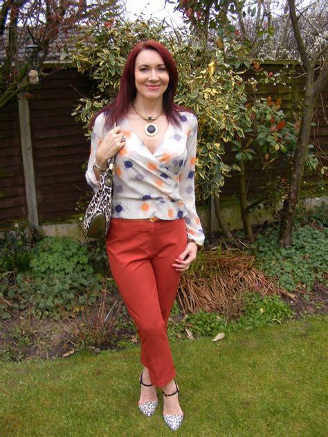 Blouse Branded Dorothy Perkins burnt orange silk blouse chevron blouse