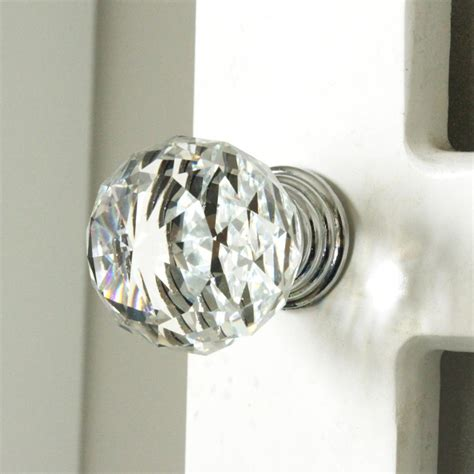 crystal kitchen cabinet knobs k9 clear crystal knob chrome glitter knob kitchen cabinet