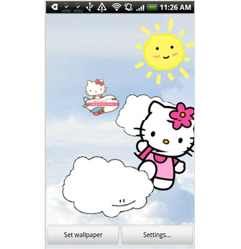 live wallpaper of hello kitty wallpapers kitty junkie balloon 2009 iphone wallpaper make