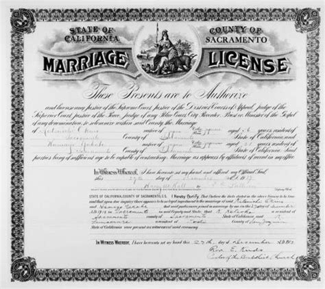 California Marriage License Records Calisphere Marriage License State Of California County