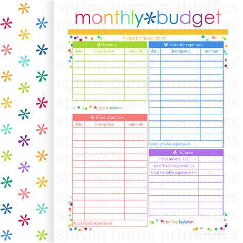 search results for monthly budget planner calendar 2015