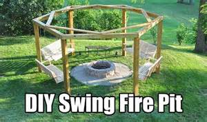 Diy swing swings fire pits and swings on pinterest