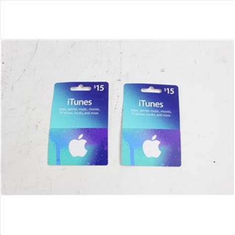 lot of 2 itunes gift cards 15 denomination balances unconfirmed property room - Itunes Gift Card Denominations