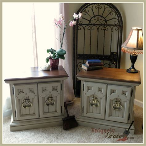 nightstands makeover in cali taupe