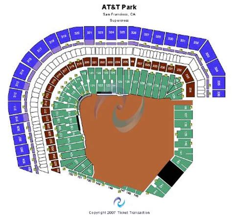 pac bell park seating pac bell park seating chart football
