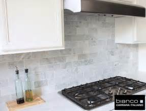 Carrara Marble Subway Tile Kitchen Backsplash Carrara Bianco 3 215 6 Kitchen Backsplash The Builder Depot