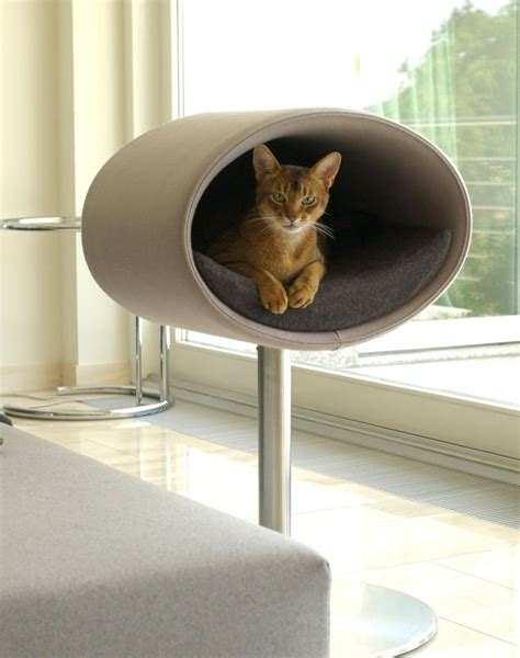 Rondo modern furniture for cats, a cat scratch post and