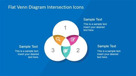 powerpoint venn diagram intersection color three sets venn diagram with flat icons intersections