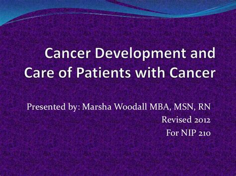 What Can I Do With Mba And Msn by Cancer Development And Cancer Nursing Created By Marsha